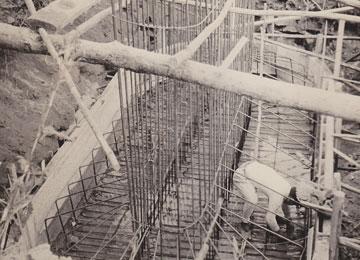 昭和29年2月 阿多野橋架換工事